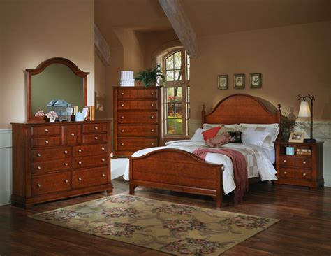Cherry Bedroom Dresser by Vaughan Bassett Cottage Bb19 Cherry Bedroom