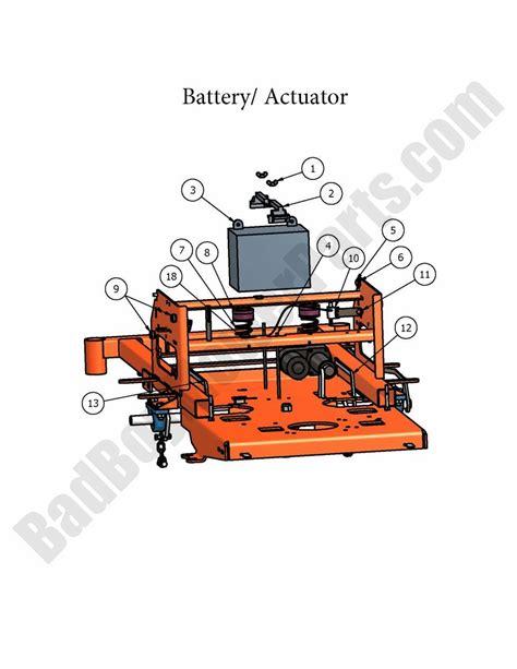 Actuator 2 Position Bed bad boy parts lookup 2007 zt battery actuator