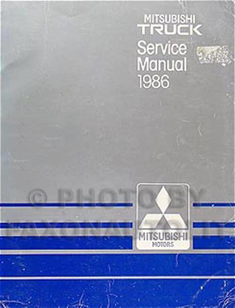 book repair manual 1992 mitsubishi truck free book repair manuals 1986 mitsubishi pickup truck shop manual 86 original repair service book ebay