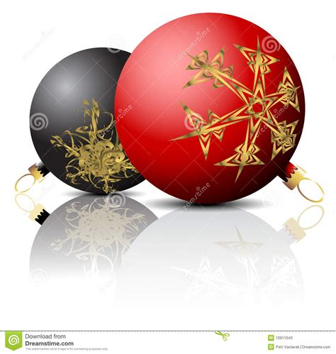 black and red christmas bulbs stock photos image 10911043