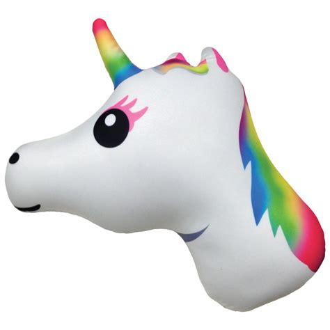 Unicorn Pillow by Unicorn Emoji Microbead Pillow
