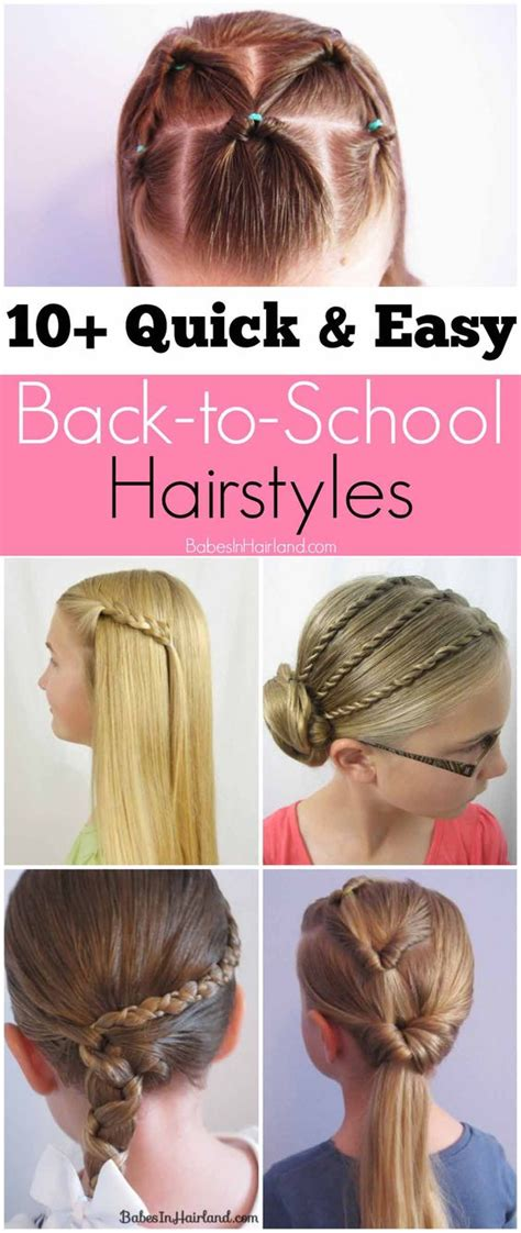ten and easy hairstyles for the new school year 10 and easy back to school hairstyles in