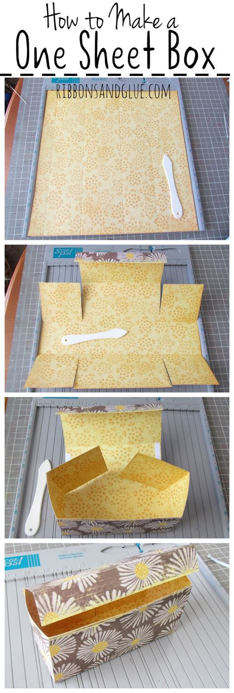 How To Make Handmade Sheet At Home - how to make a one sheet gift box scrapbook paper