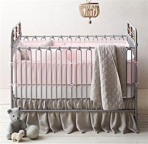 Linen Crib Set by Garment Dyed Crochet Linen Linen Nursery Bedding Collection