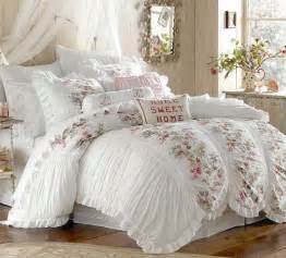 cottage bedding 3 piece shabby white ruffles vintage victorian country