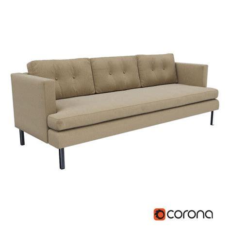 jackson sectional west elm 3d model west elm jackson sofa cgtrader