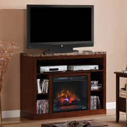 fireplace television consoles 23 quot empire cherry media console electric fireplace