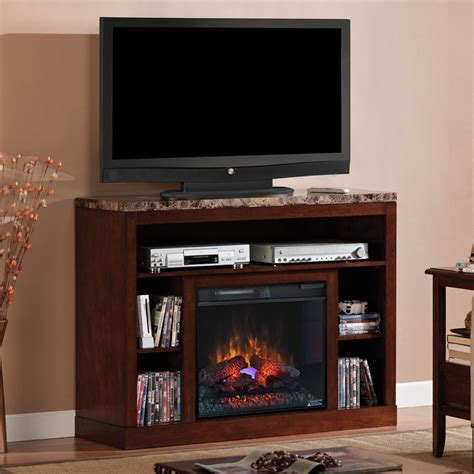 tv consoles with electric fireplace 23 quot empire cherry media console electric fireplace