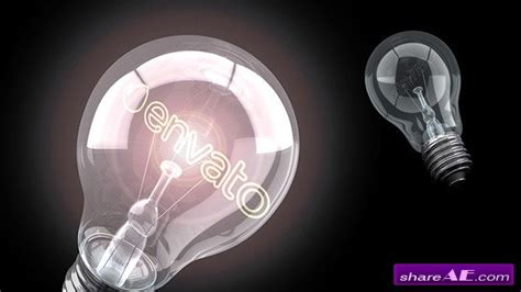 after effects templates free light bulb videohive bright idea light bulb logo after effects