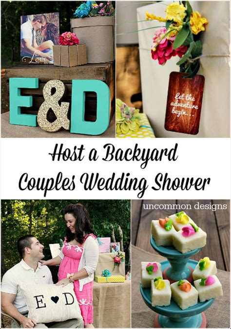backyard couples wedding shower uncommon designs - Couples Wedding Shower Decorations