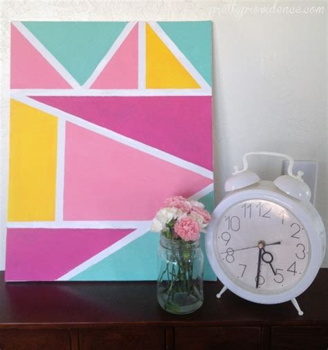 painting to do diy geometric wall pretty providence