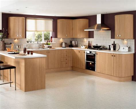 Light Oak Kitchen Cabinets Light Oak Modern Kitchen Quicua