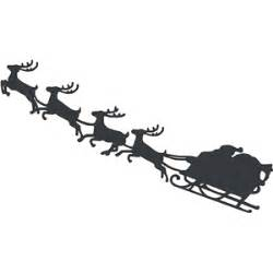 santa sleigh and reindeer silhouette silhouette design store view design 5437 santa and