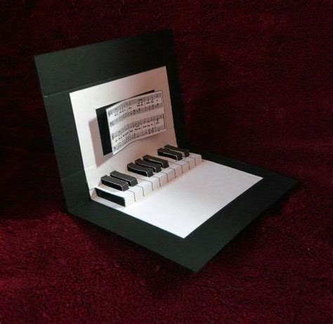 Handmade Pop Up Greeting Cards - creative new piano pop greeting card made cardsbay