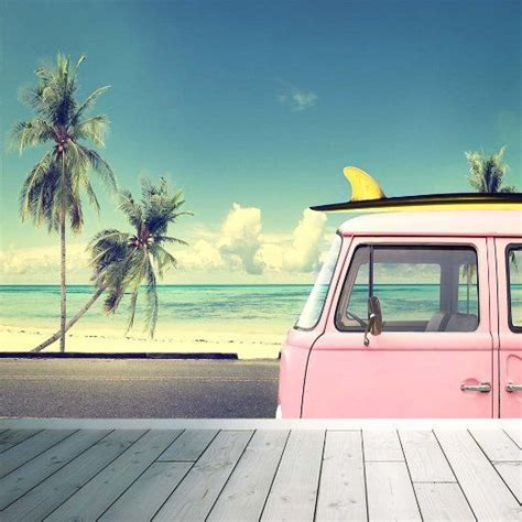 wallpaper volkswagen vintage vw surf cer map wall mural photo wallpaper