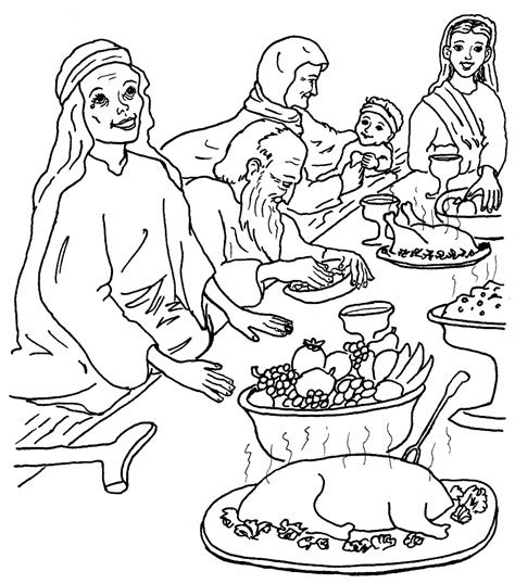 coloring pages of jesus parables the great banquet coloring pages