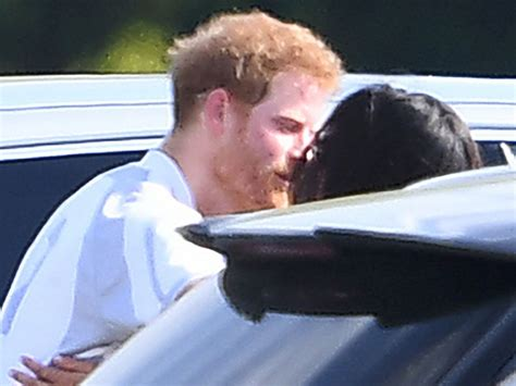 prince harry and meghan meghan markle prince harry show pda at polo match for