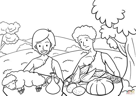 cain and abel the way of sacrifice coloring page free