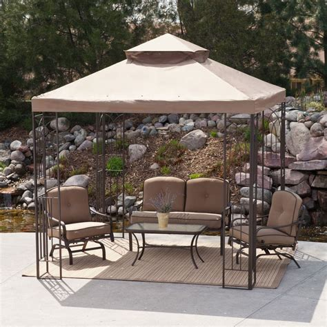 8 X 10 Patio Gazebo Backyard Canopy Gazebo Versatile And Highly Portable
