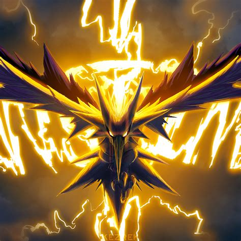wallpaper 4k rar 2048x2048 zapdos pokemon go art ipad air hd 4k wallpapers