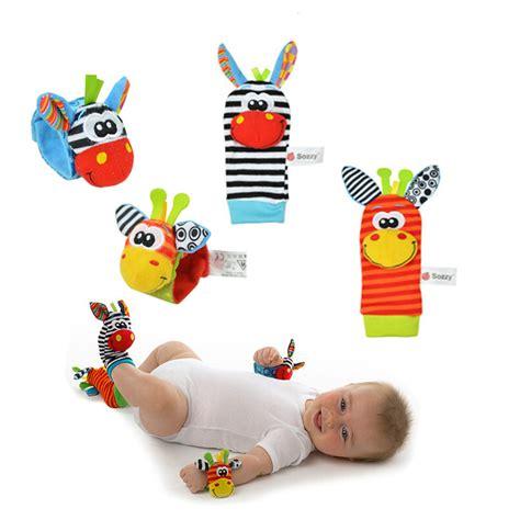 Kaos Kaki Rattle Kaos Kaki Bayi 1 buy get 4 pcs 1 set rattle bayi zebra gelang tangan kaos