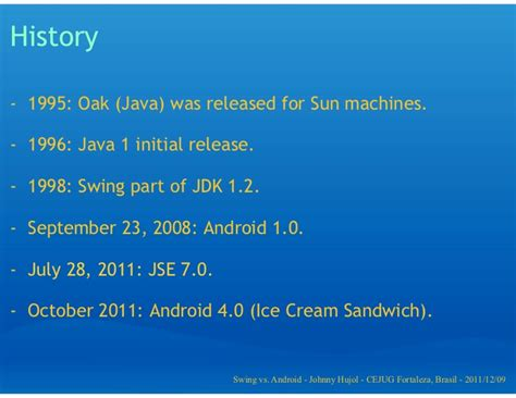 java swing history java swing vs android app