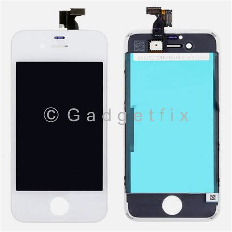Lcd Hp Iphone 4 us white lcd display touch screen digitizer assembly frame parts for iphone 4s 230696330000