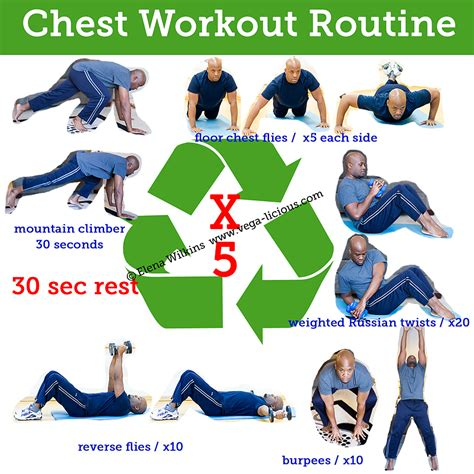 15 minute chest workout routine vegalicious