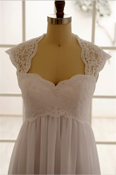 Wedding Hair For Keyhole Back Dress by Lace Chiffon Wedding Dress Keyhole Back Dress Cap By