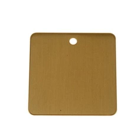 lacquered brass lacquered brass 1 75 inch square blank