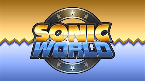 sonic world fan game sonic world logo remake by mauritaly on deviantart