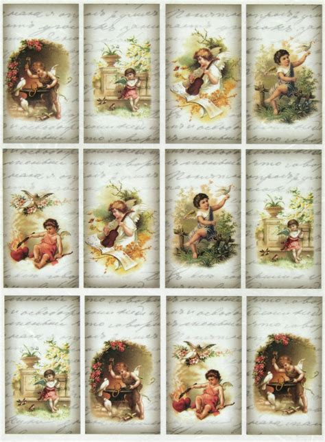 Vintage Decoupage Paper - rice paper for decoupage decopatch scrapbook craft sheet