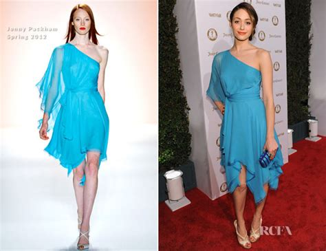 Catwalk To Carpet Emmy Rossum by Emmy Rossum In Packham Vanities 20th Anniversary