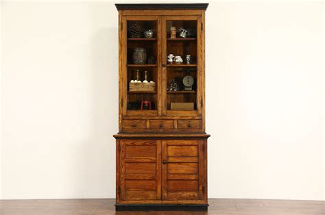 sold country pine  antique pantry cupboard kitchen
