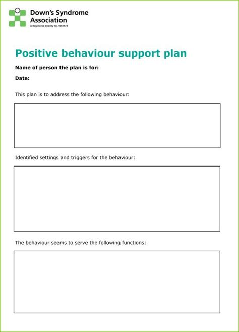 it support plan template behaviour guidance plan template choice image template