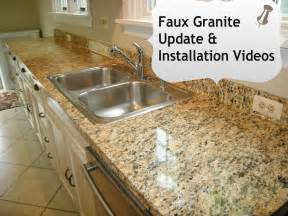 Faux Granite Countertops Cost Faux Granite Kitchen Counters In Minutes With Ez Instant