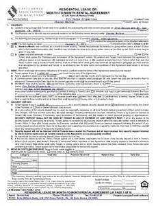California Lease Price 3703 Kelton Unit C M To M Rental Agreement