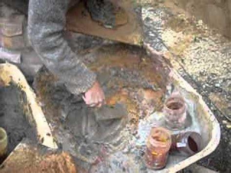 Comment On Fabrique Le Ciment by Fabrication De La Couleur D Une Fausses Pierres