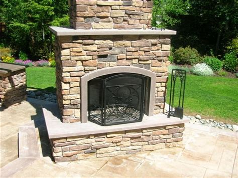 outdoor fireplace mantels photo gallery outdoor fireplaces poulsbo wa the
