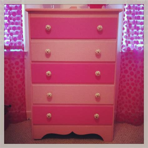 pink dresser knobs from hobby lobby s room
