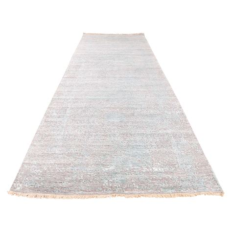 wide runner rugs 4 x9 9 quot broken design wool and silk knotted wide runner rug moac9e68 the rug shopping