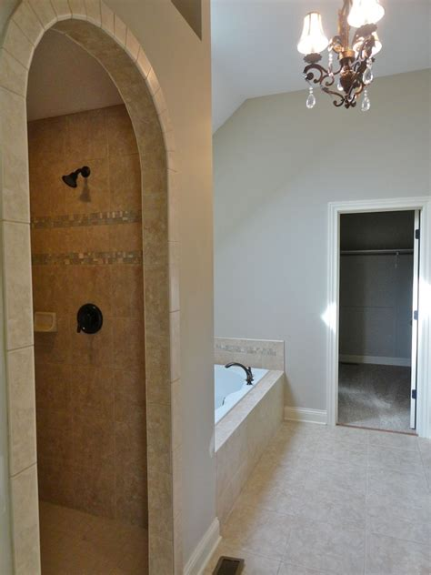 custom walk in showers custom walk in shower separate whirlpool tub oswego