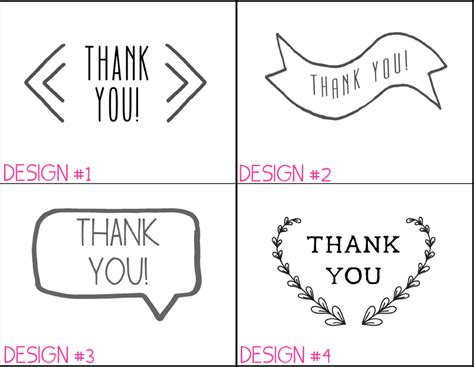 thank you card printing templates 6 best images of thank you note paper printable thank
