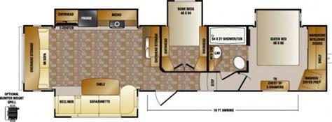 bunkhouse fifth wheel floor plans new fifth wheel 2015 crossroads cruiser 345bh two