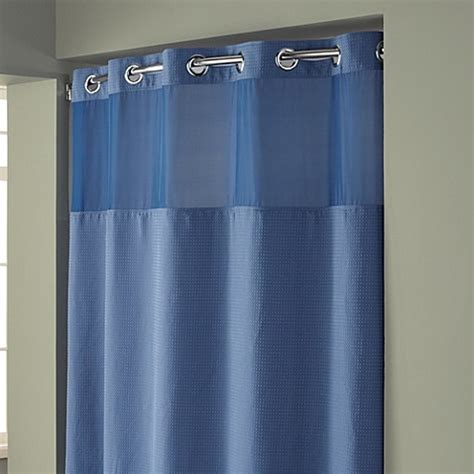 hookless stall shower curtain buy hookless 174 waffle 54 inch x 80 inch stall fabric shower