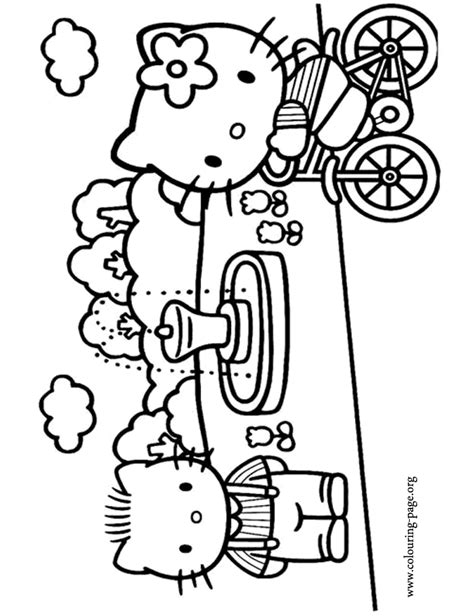 hello kitty dear daniel coloring pages hello kitty hello kitty and her boyfriend dear daniel