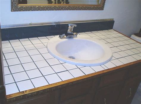 bathroom tile countertop ideas hometalk how to turn your tile counter top in to faux