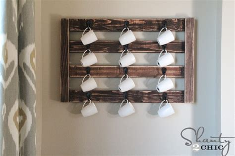 Coffee Cup Wall Rack by Diy Coffee Mug Wall Rack Images