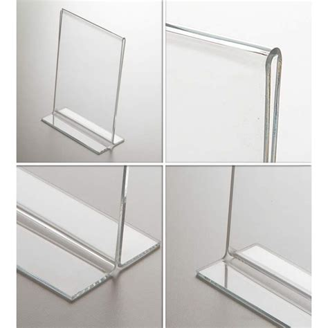 porte plexiglas porte menu de table restaurant plexi l