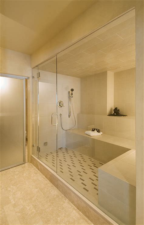 turn your shower into a steam room lower level turned spa modern bathroom other metro by rumor design redesign